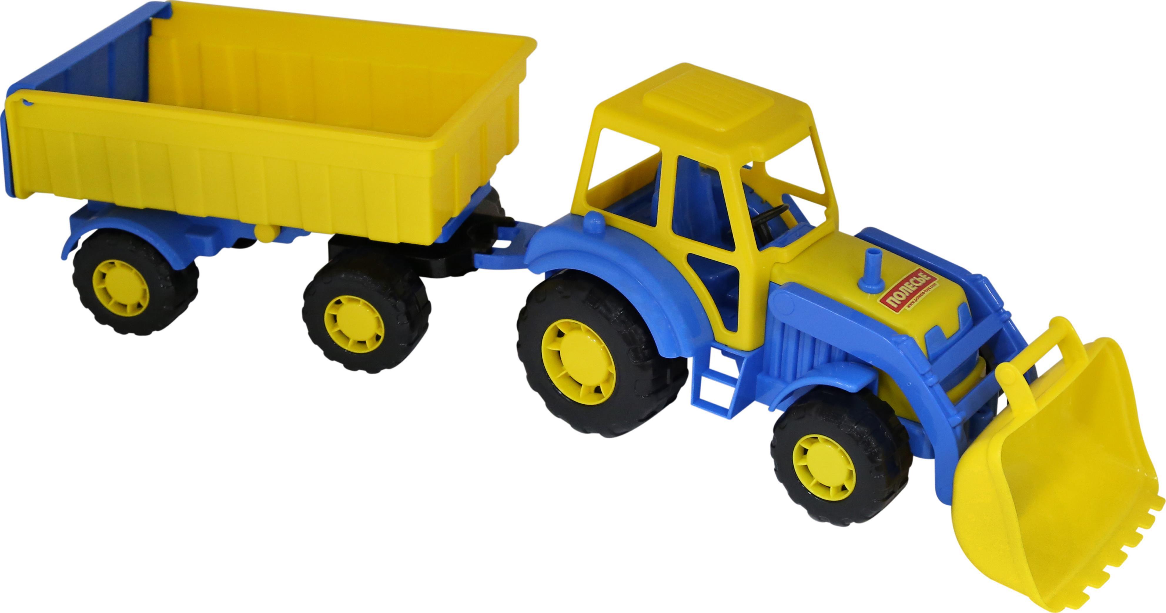 Купить Трактор Алтай с прицепом и ковшом, Полесье