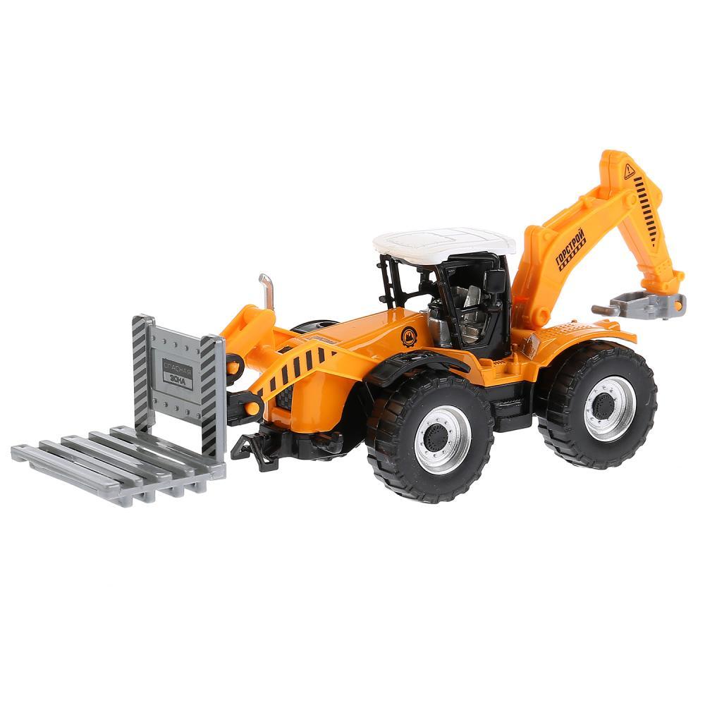 Купить Трактор 15 см, металлический, инерционный, подвижные элементы, Технопарк