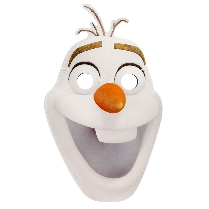 Маска картонная «Олаф»Карнавальные маски и колпаки<br>Маска картонная «Олаф»<br>