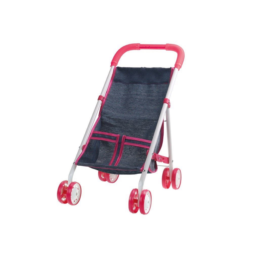 Купить Прогулочная коляска для куклы Красотка - Джинс, 1TOY