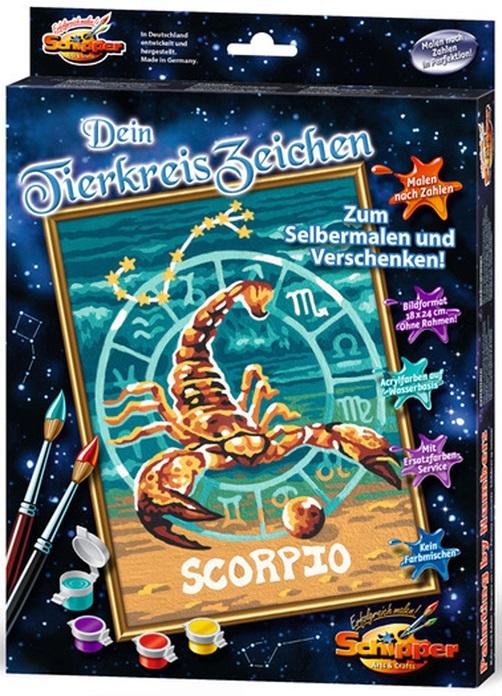 Раскраска по номерам, Знаки Зодиака. СкорпионРаскраски по номерам Schipper<br>Раскраска по номерам, Знаки Зодиака. Скорпион<br>