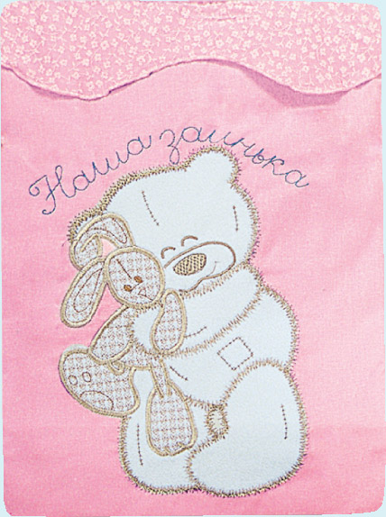 Постельное белье Сабина, 3 предмета, розовое