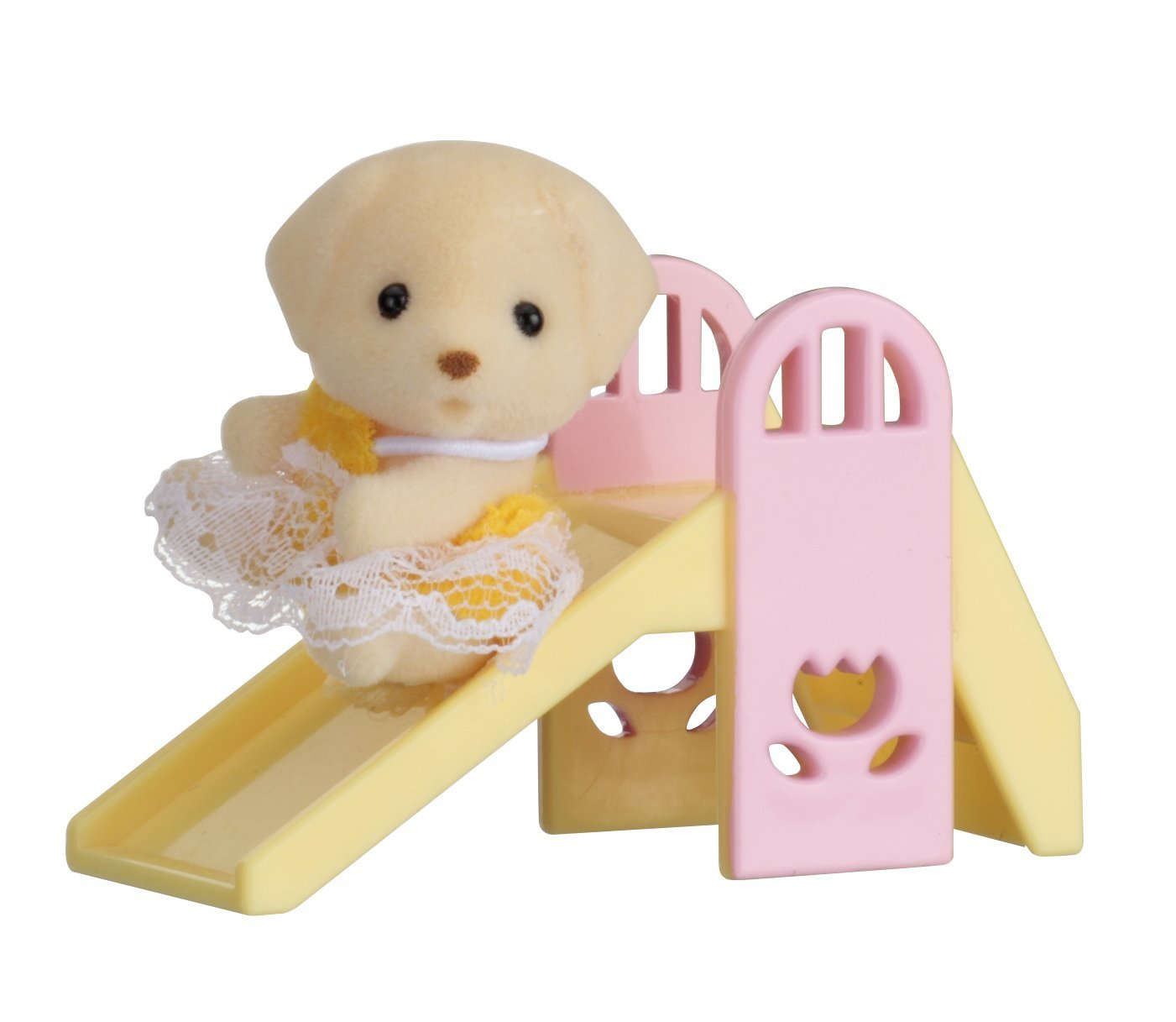 Купить Sylvanian Families. Младенец в пластиковом сундучке - Собачка на горке, Epoch