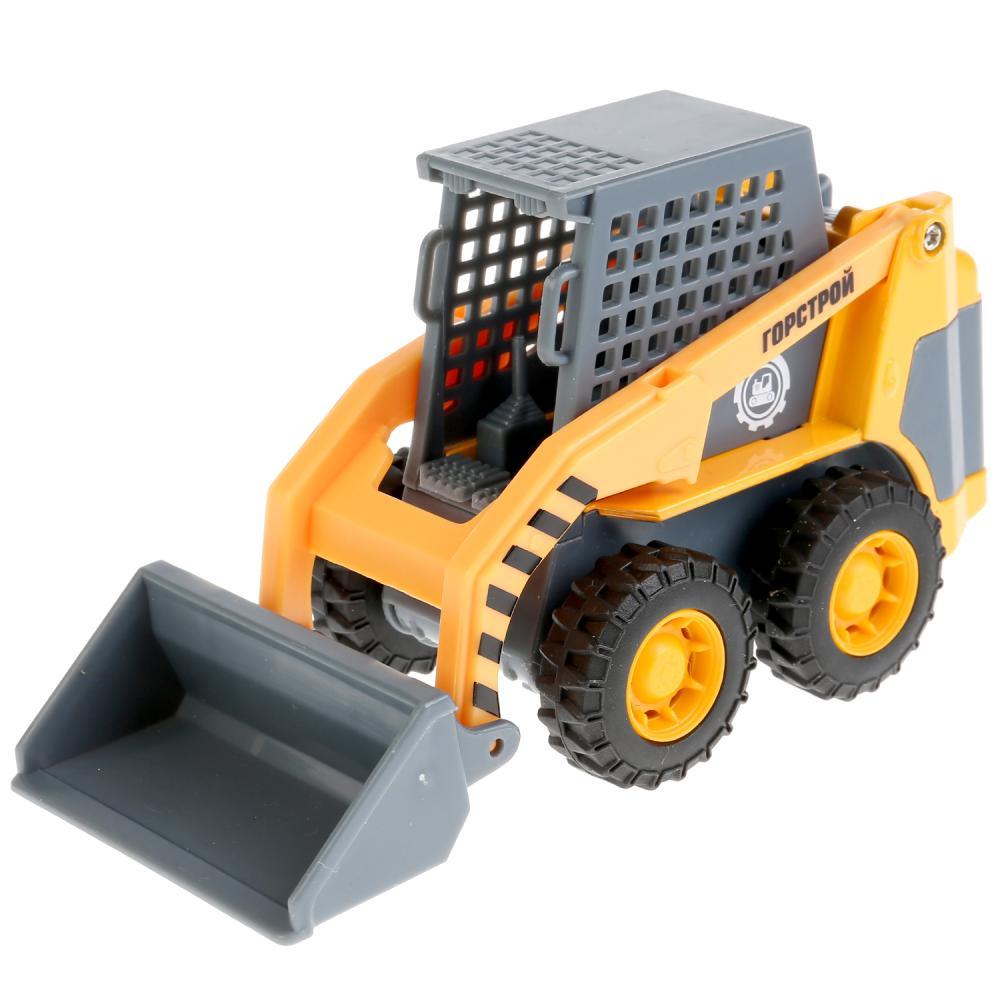 Купить со скидкой Металлическая инерционная машина – Погрузчик Мини, 12 см, подвижные элементы