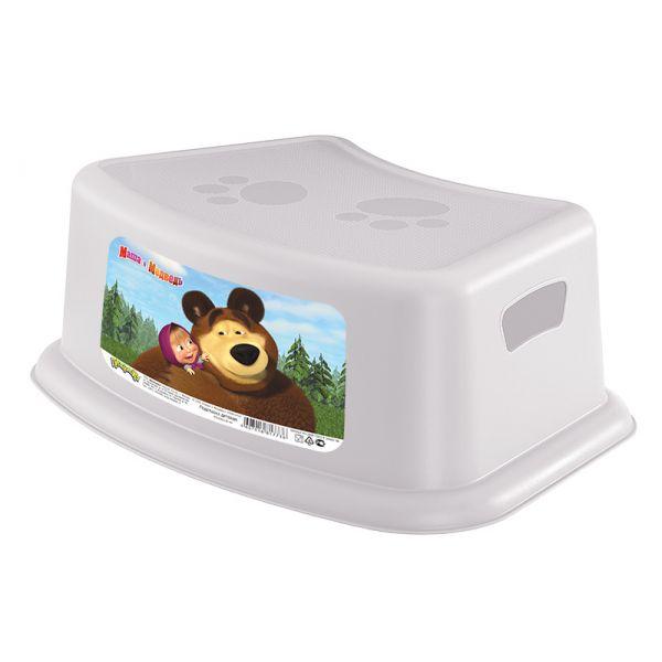 Подставка детская Маша и Медведь, цвет белыйгоршки и сиденья для унитаза<br>Подставка детская Маша и Медведь, цвет белый<br>