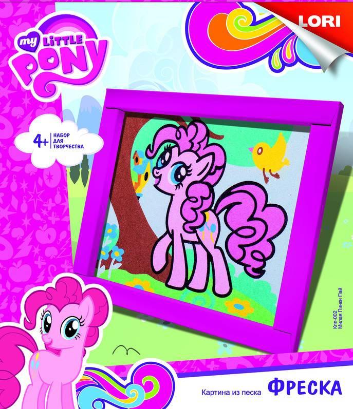 Фреска из песка из серии My Little Pony - Милая Пинки ПайМоя маленькая пони (My Little Pony)<br>Фреска из песка из серии My Little Pony - Милая Пинки Пай<br>