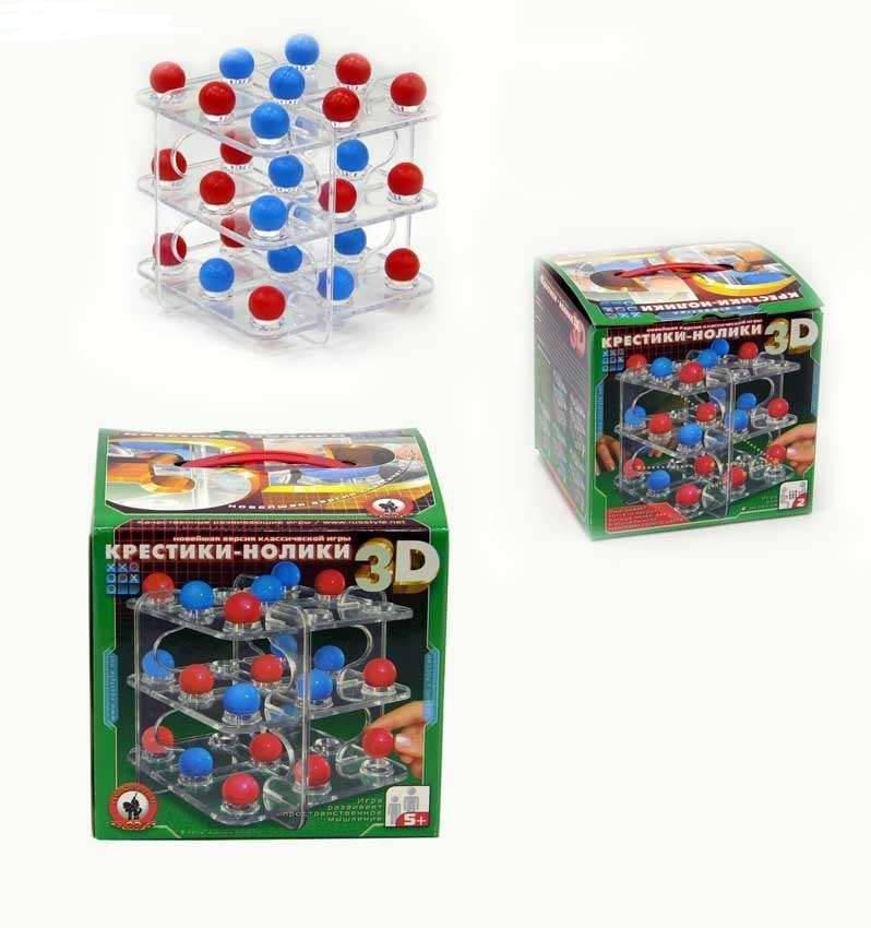 Игра настольная. Крестики-нолики 3D - Логические, артикул: 42486