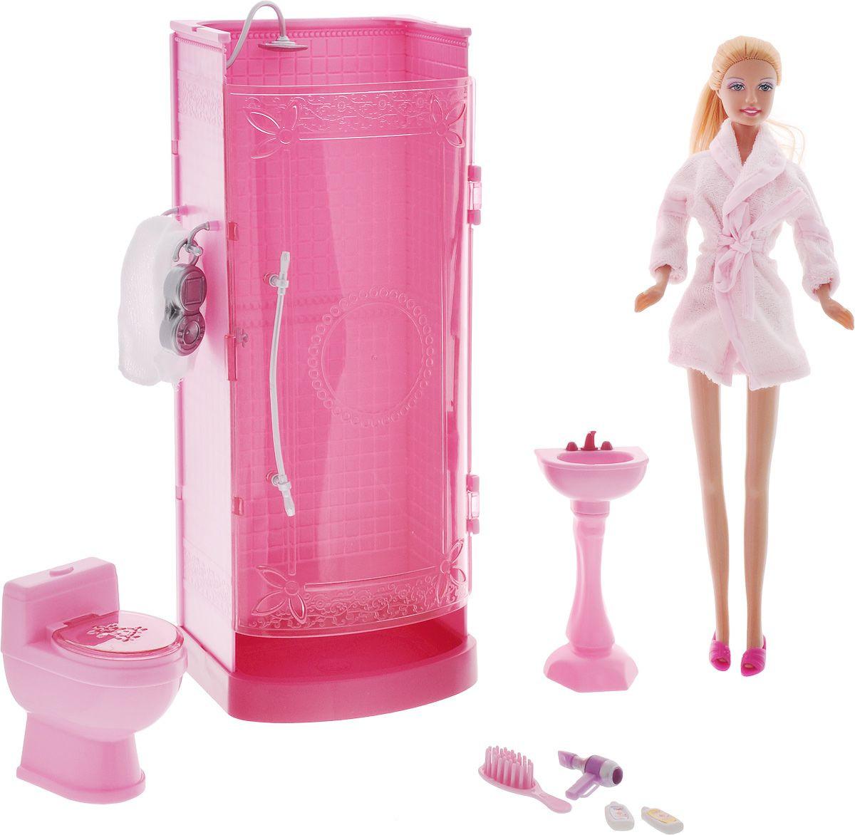 Купить Игровой набор - Ванная комната Люси, с куклой и аксессуарами, Defa Lucy