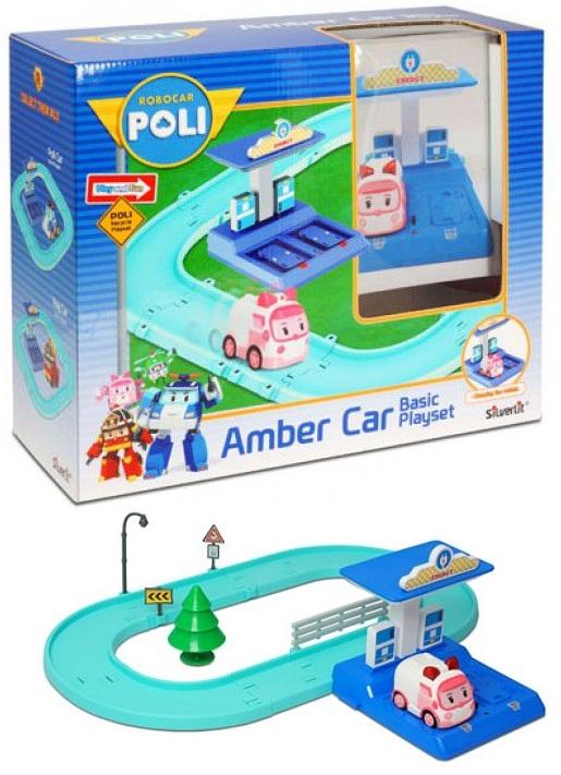 Игровой набор - Трек с умной машинкой ЭмберRobocar Poli. Робокар Поли и его друзья<br>Игровой набор - Трек с умной машинкой Эмбер<br>