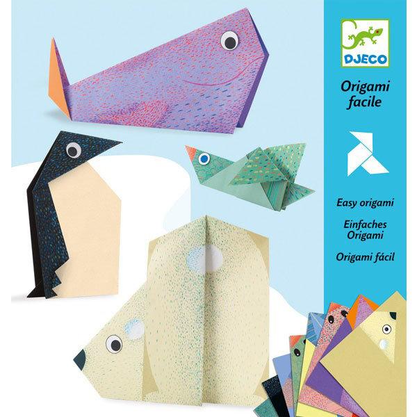 Купить Набор для творчества Оригами - Полярные животные, Djeco