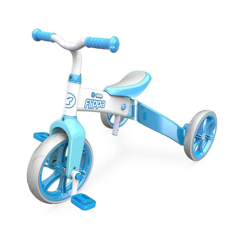 Купить Беговел-велосипед YVolution Velo Flippa голубой