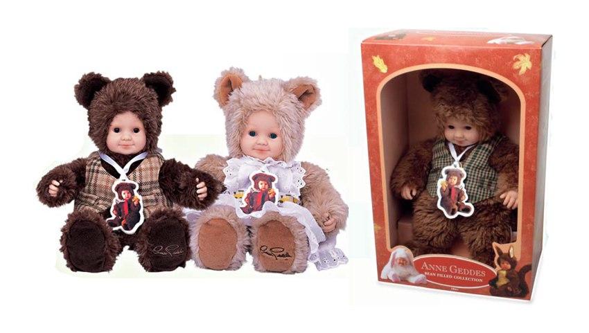 Кукла из серии «Детки-мишки», 30 см.Куклы детки ANNE GEDDES<br>Кукла из серии «Детки-мишки», 30 см.<br>