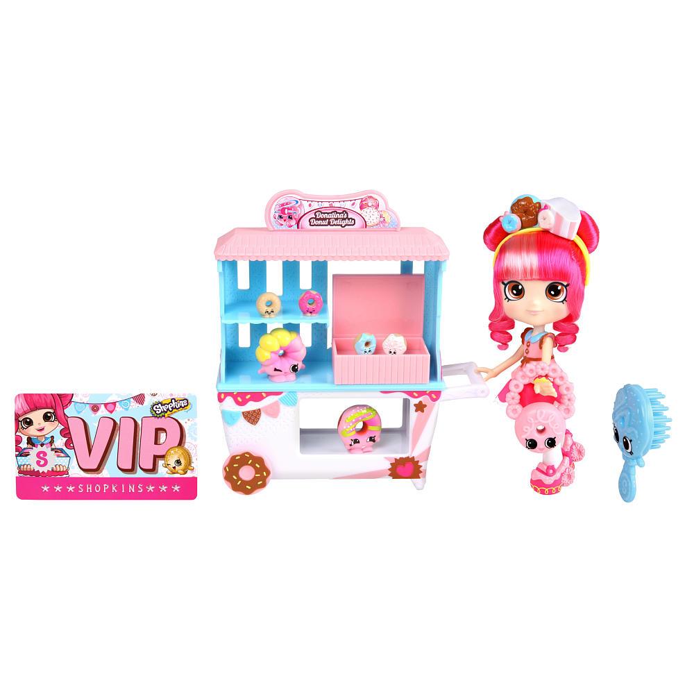 Купить Набор Shopkins - Пончик счастья Донатины с куклой и аксессуарами, MOOSE ENTERPRISE
