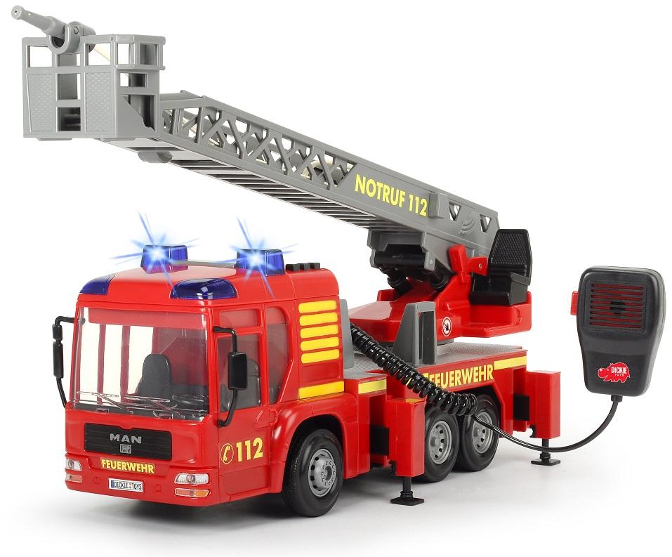 Пожарная машина, функциональная, 43 см.Пожарная техника, машины<br>Пожарная машина, функциональная, 43 см.<br>