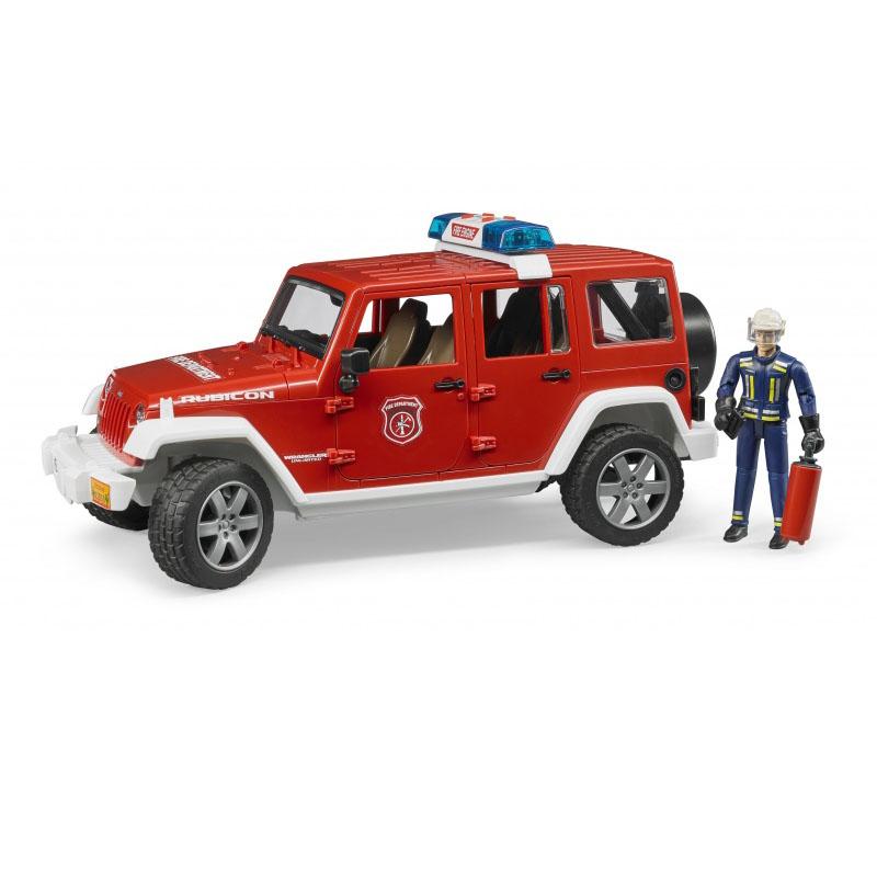 Пожарный внедорожник Bruder Jeep Wrangler Unlimited Rubicon, с фигуркой по цене 4 187