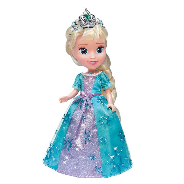Интерактивная кукла Эльза из мультфильма Disney «Холодное сердце», 25 см., со светящимся амулетомКуклы Карапуз<br>Интерактивная кукла Эльза из мультфильма Disney «Холодное сердце», 25 см., со светящимся амулетом<br>
