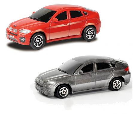 Купить Машина металлическая RMZ City - BMW X6, 1:64, цвет красный / серый