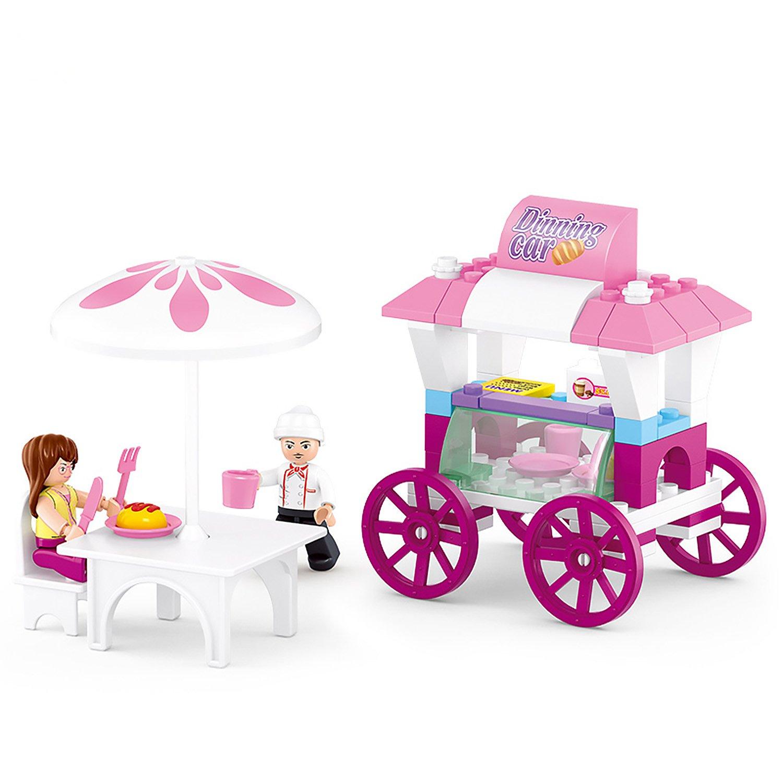 Конструктор – Розовая мечта: кафе с фигурками 78 деталей.