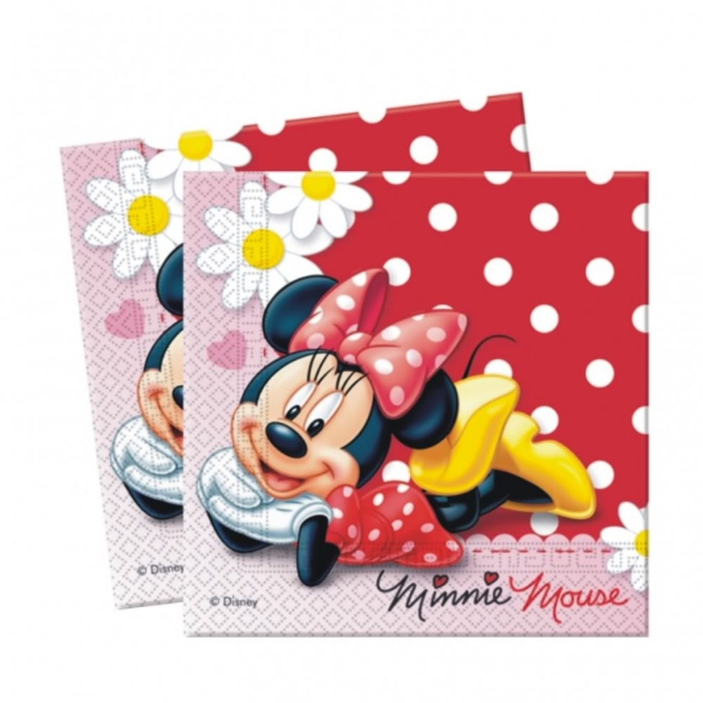 Салфетка Минни – Ромашки, 33 см, 16 штукМинни Маус (Minnie Mouse)<br>Салфетка Минни – Ромашки, 33 см, 16 штук<br>