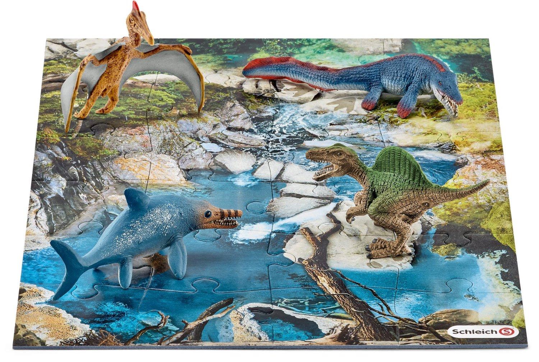 Игровой набор мини-динозавры и пазл БолотоЖизнь динозавров (Prehistoric)<br>Игровой набор мини-динозавры и пазл Болото<br>