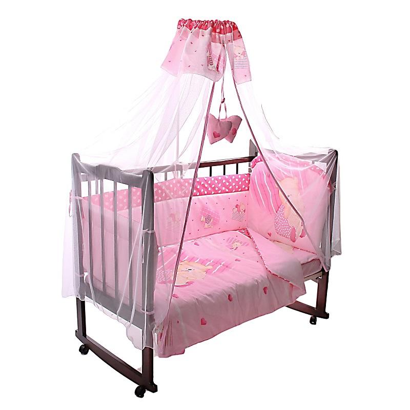 Комплект – Мишутка, розовыйДетское постельное белье<br>Комплект – Мишутка, розовый<br>