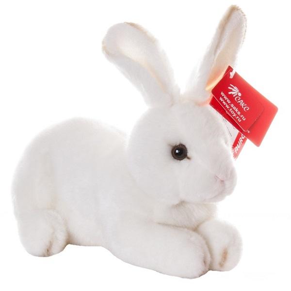 Игрушка мягкая - Кролик белый, 25 см.Зайцы и кролики<br>Игрушка мягкая - Кролик белый, 25 см.<br>