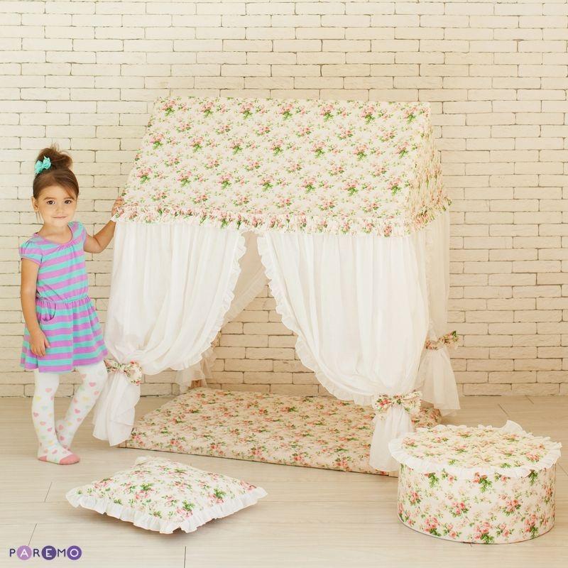 Текстильный домик с пуфиком - Дворец ШахерезадыДомики-палатки<br>Текстильный домик с пуфиком - Дворец Шахерезады<br>