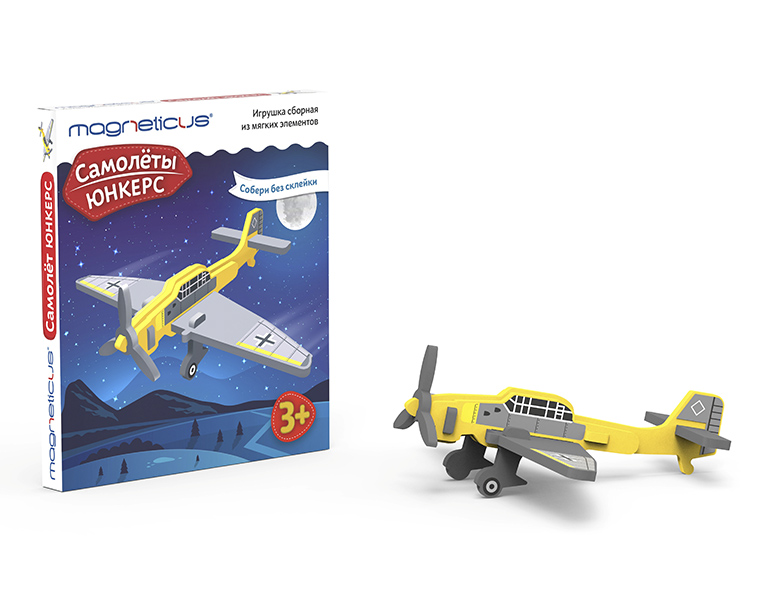 Купить Сборная модель из мягких элементов – Самолеты. Юнкерс, MAGNETICUS