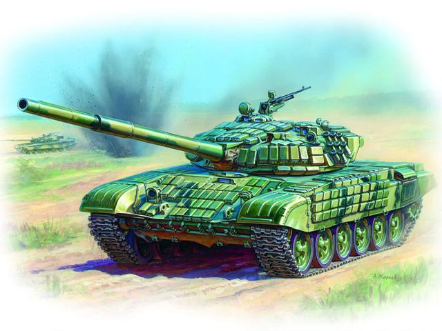 Модель для склеивания - Танк с активной бронёй Т-72БМодели танков для склеивания<br>Модель для склеивания - Танк с активной бронёй Т-72Б<br>