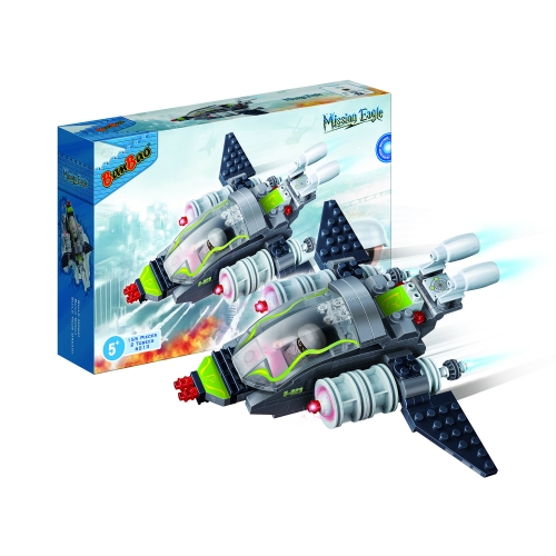 Конструктор - Истребитель, 155 деталейКонструкторы BANBAO<br>Конструктор - Истребитель, 155 деталей<br>