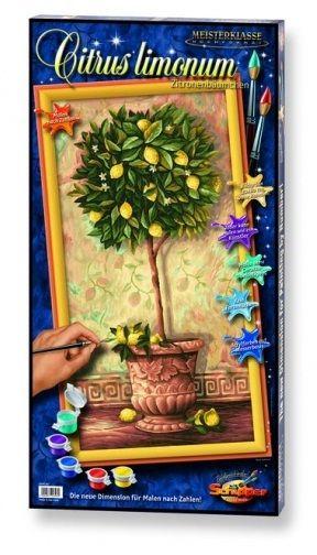 Лимонное дерево, 40*80 смРаскраски по номерам Schipper<br>Раскраска по номерам Лимонное дерево<br>Размер готовой работы: 40 х 80 см.<br>