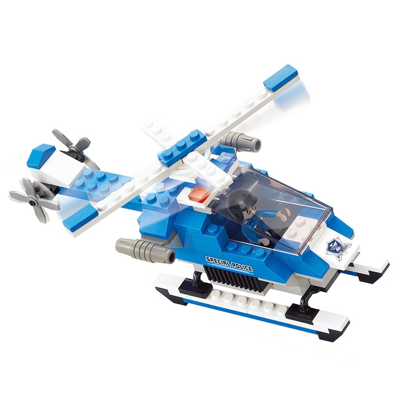 Конструктор – Полиция: вертолет с фигуркой 133 детали.