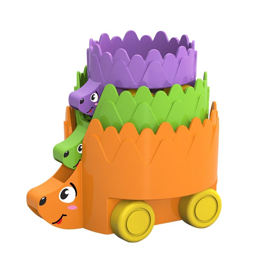 Набор игрушек на колёсах Ёжики