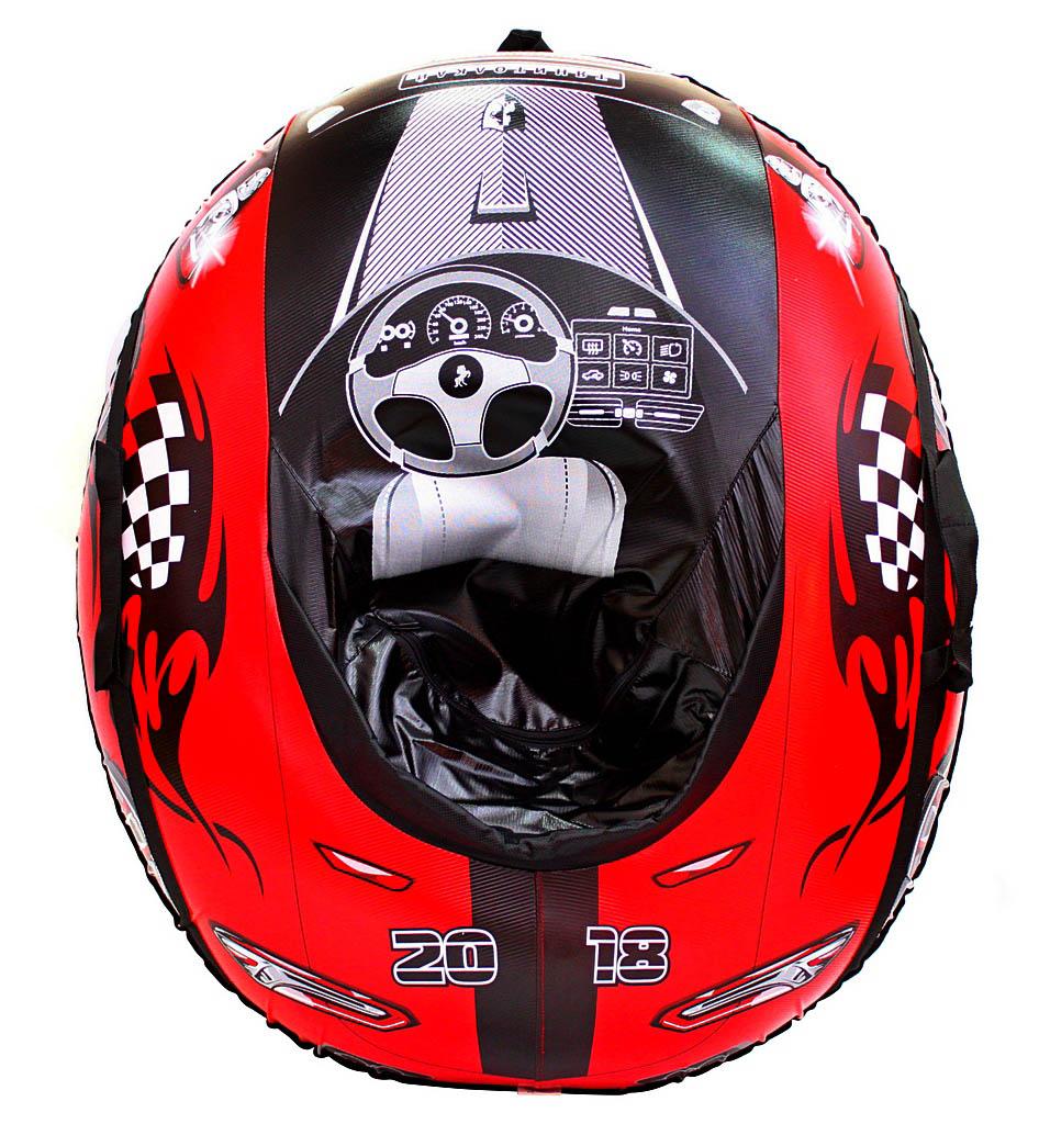 Санки надувные овальные - Машинка Comfort – Ferrari, красная