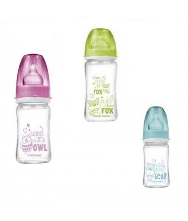Антиколиковая бутылочка – Эко стекло, 330 млТовары для кормления<br>Антиколиковая бутылочка – Эко стекло, 330 мл<br>