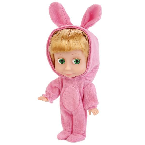 Купить Интерактивная кукла Маша и Медведь – Маша в костюме зайца, 15 см, звук sim), Карапуз