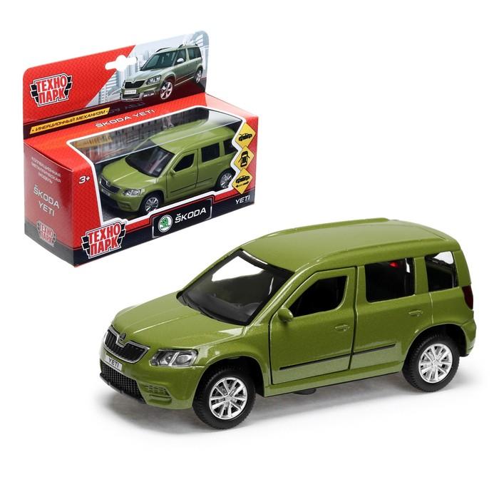 Купить Машина металлическая Skoda Yeti, длина 12 см, открываются двери, инерционная, зеленая, Технопарк
