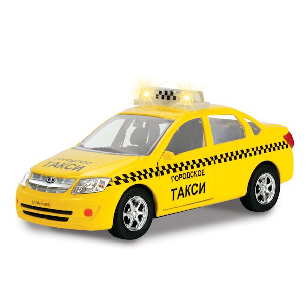Инерционная машина Лада Гранта - Такси, свет, звук, 1:43LADA<br>Инерционная машина Лада Гранта - Такси, свет, звук, 1:43<br>