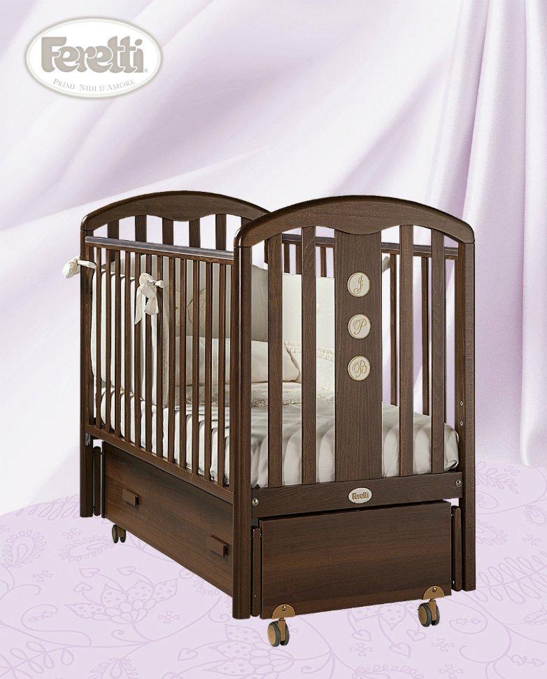 Кровать детская Elegance Swing NoceДетские кровати и мягкая мебель<br>Кровать детская Elegance Swing Noce<br>