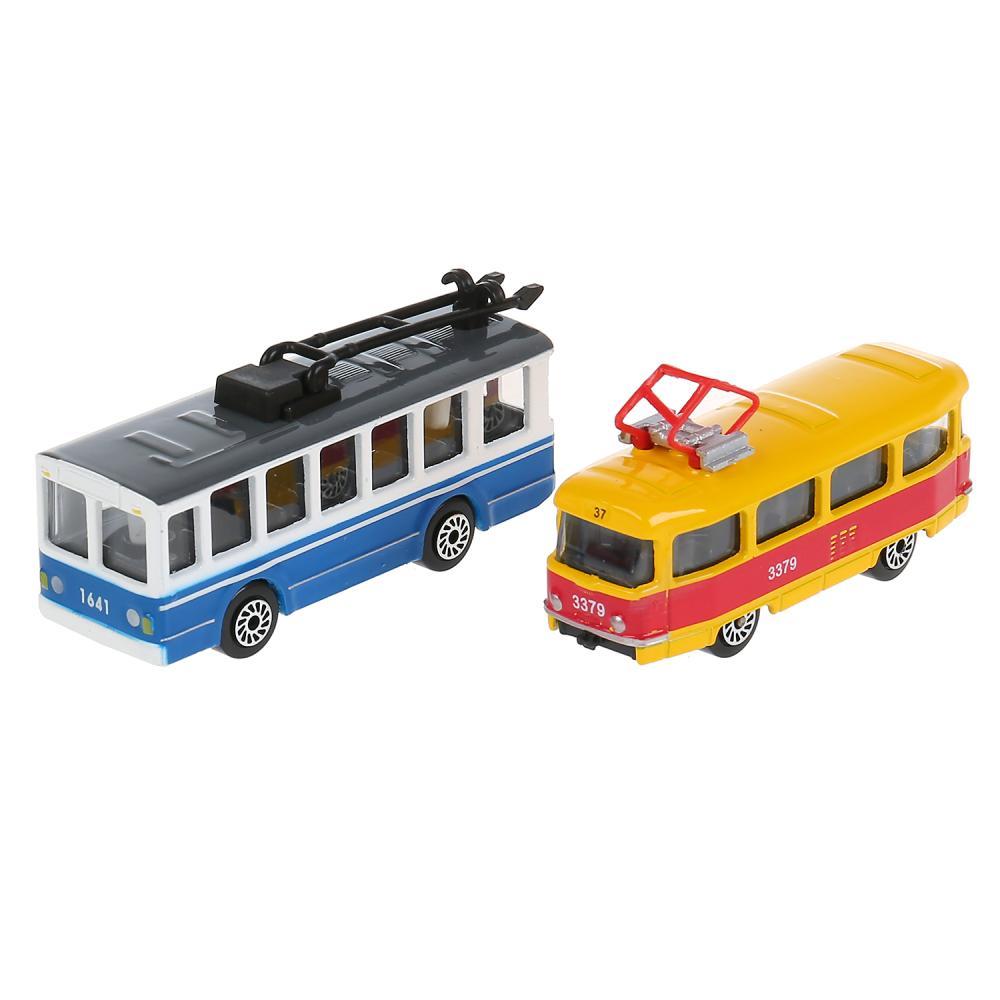 Купить Набор из 2 моделей - Городской транспорт, 7, 5 см, Технопарк