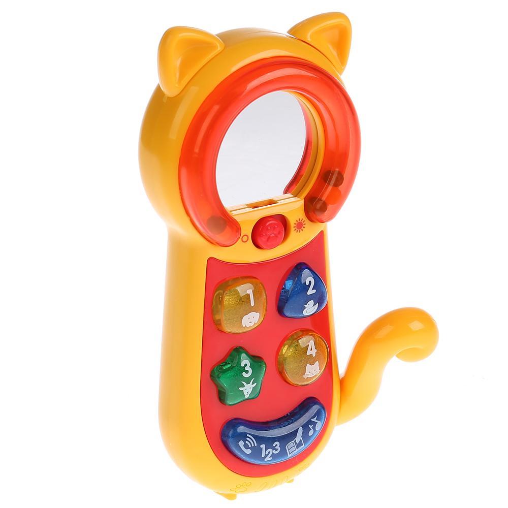 Купить Обучающий телефон-трещотка, свет и звук, стихи М. Дружининой, учим цифры, фразы, Умка