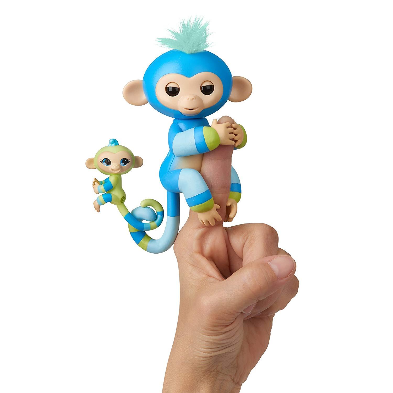 Купить Интерактивная обезьянка Fingerlings – Билли с малышом, 12 см, звук, WowWee