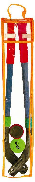 Купить Набор: 2 клюшки хоккейные 70 см., шайба и мяч ), SAFSOF