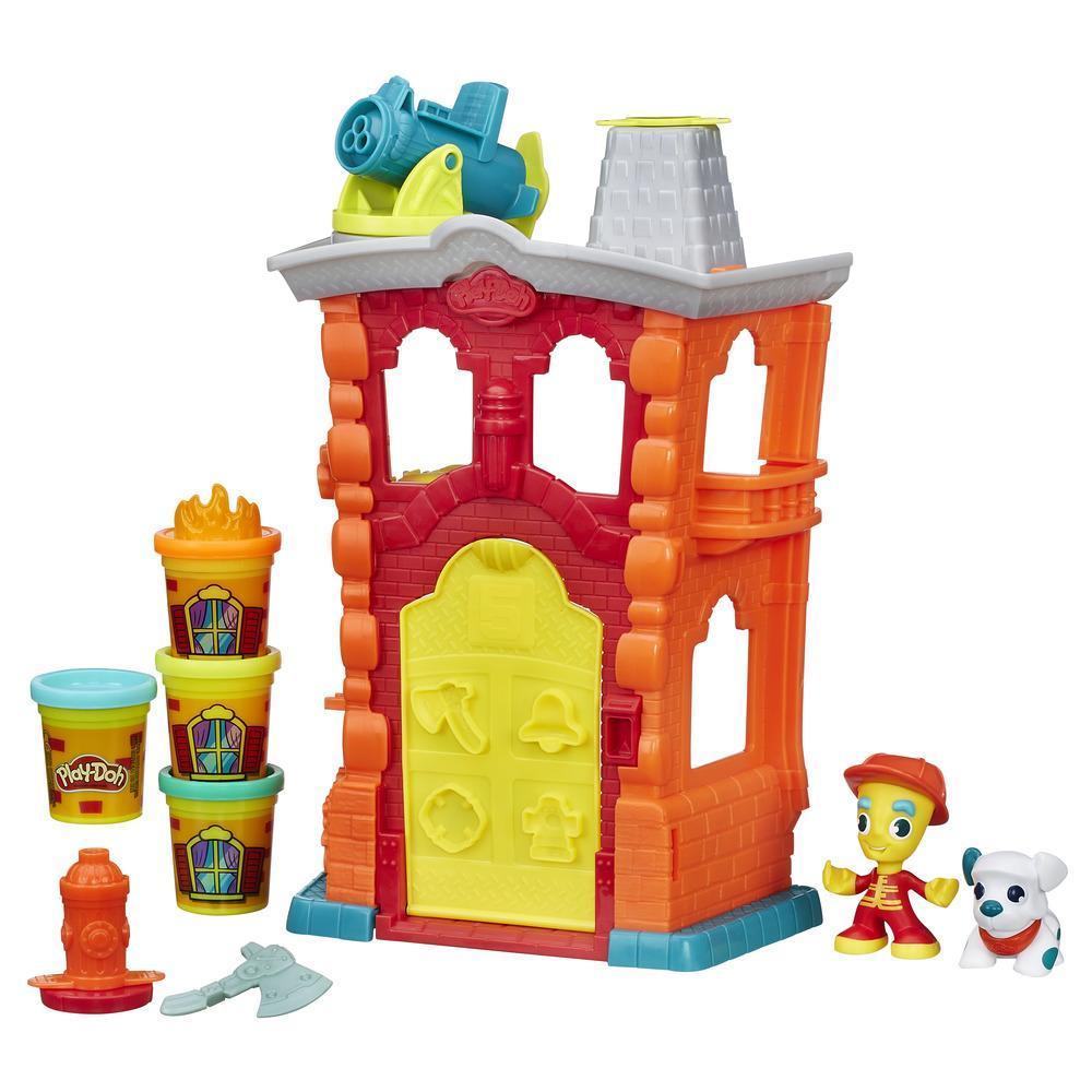 Play-Doh Игровой набор «Пожарная станция» из серии Город - Пластилин Play-Doh, артикул: 135108