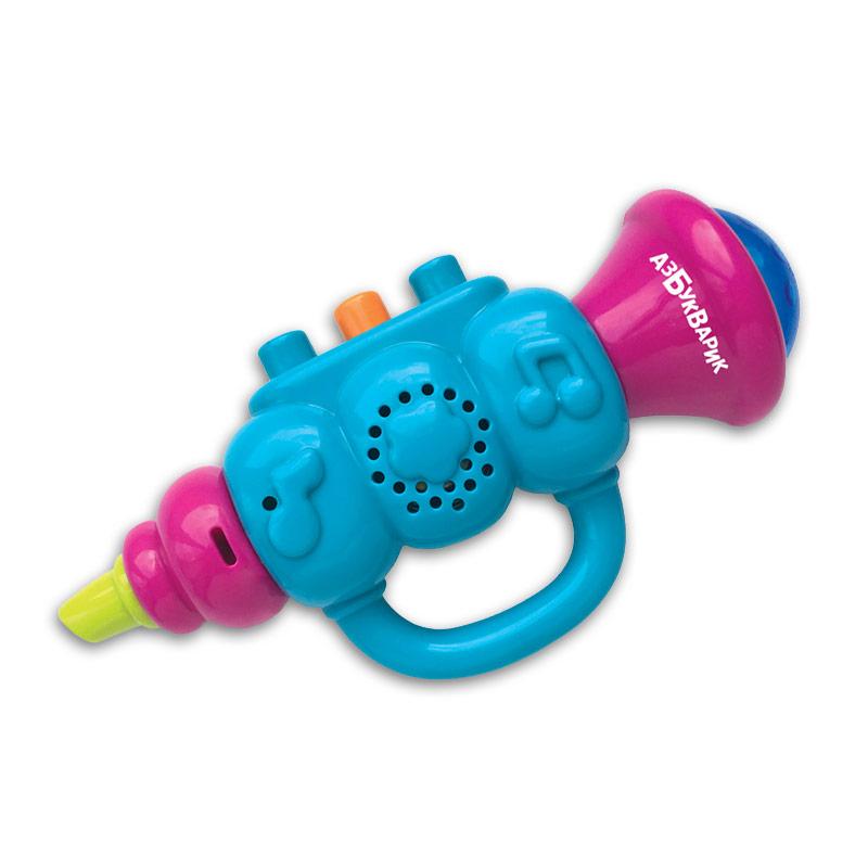 Купить Музыкальный инструмент – Дудочка, голубой, свет и звук, Азбукварик