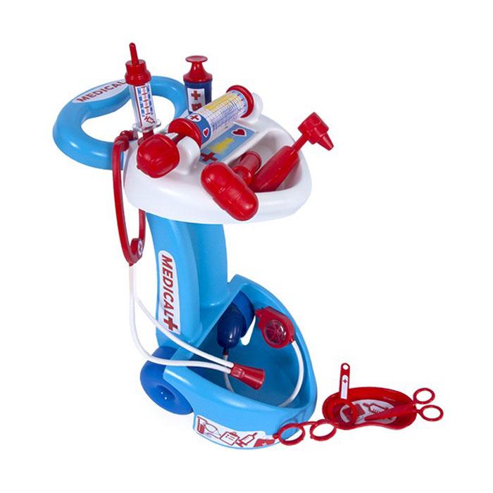 Игровой набор доктора на тележке с инструментамиНаборы доктора детские<br>Игровой набор доктора на тележке с инструментами<br>