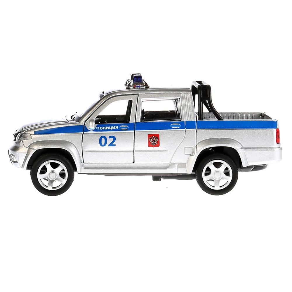 Купить Машина металлическая инерционная UAZ Pickup – Полиция, 12 см, открываются двери, Технопарк