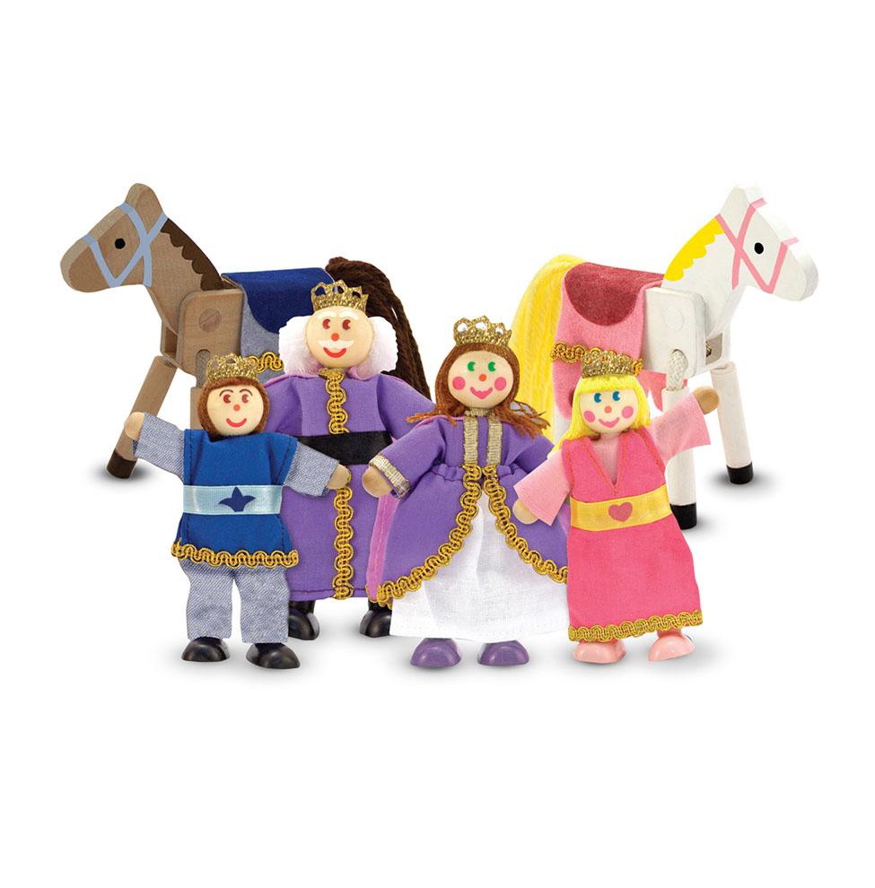 Набор кукол из дерева - Королевская семьяРазное<br>Набор кукол из дерева - Королевская семья<br>