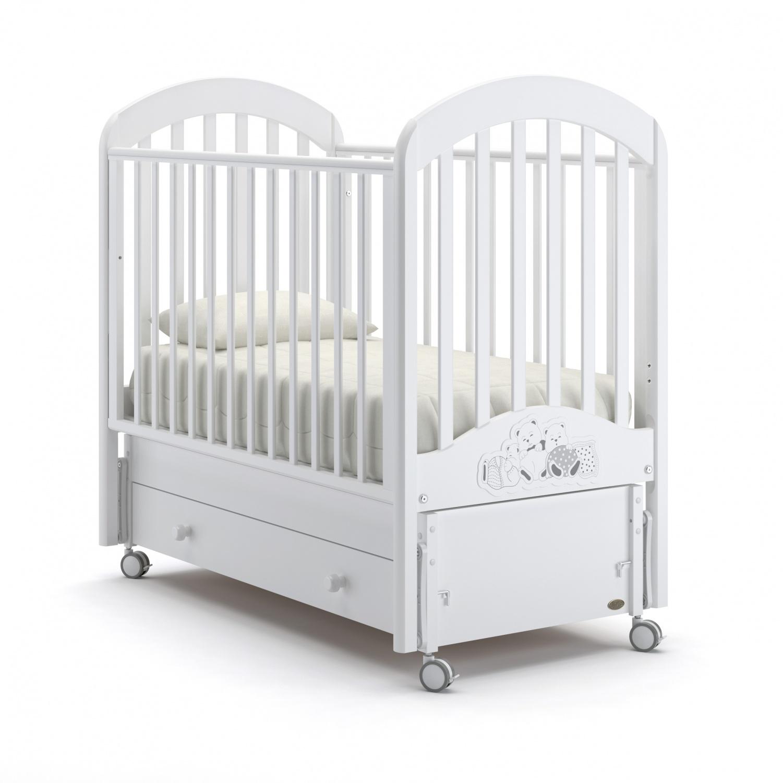 Купить Детская кровать Nuovita Grano swing продольный, цвет - Bianco/Белый