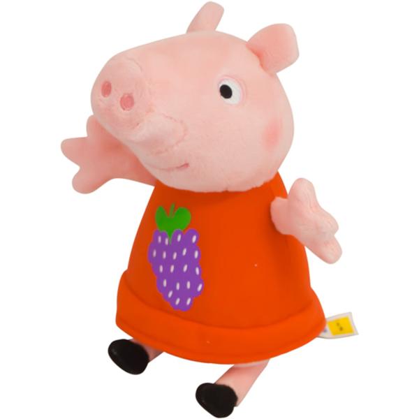 Мягкая игрушка Пеппа с виноградом 20 см тм Peppa PigСвинка Пеппа (Peppa Pig )<br>Мягкая игрушка Пеппа с виноградом 20 см тм Peppa Pig<br>